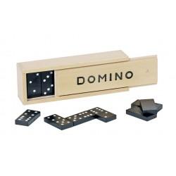 Jeu de Dominos (28 pièces, Noir, Points Blancs) 4 ans