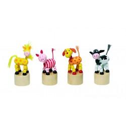 Figurines articulées en bois - Animaux