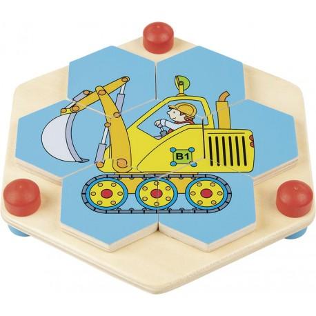 Puzzle bois en nids d'abeille