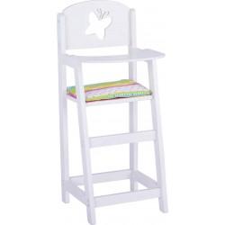 Chaise haute en bois pour poupon / poupée