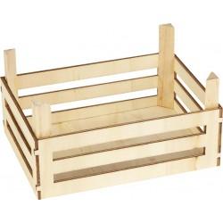 Cagette vide en bois - Set de 3
