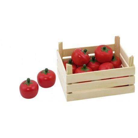 Accessoires cuisine - Tomates dans une cagette en bois