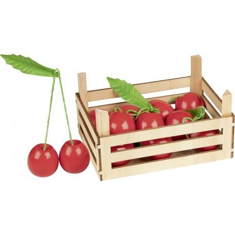 Accessoires cuisine - Cerises dans cagette en bois