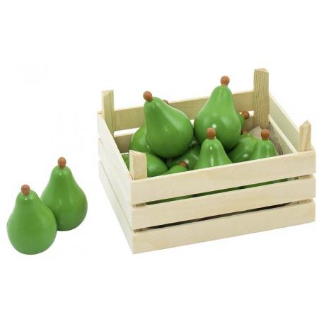 Accessoires cuisine - Poires dans cagette en bois