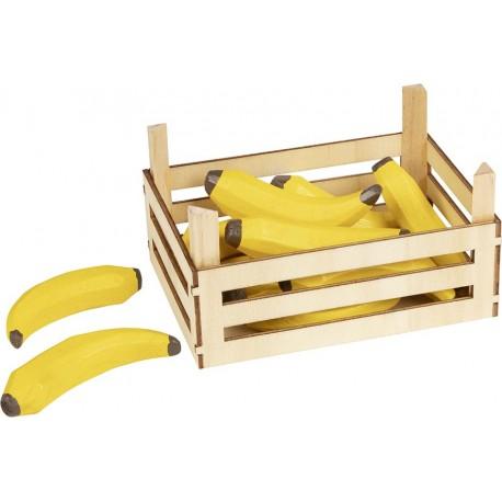 Accessoires cuisine - Bananes dans cagette en bois