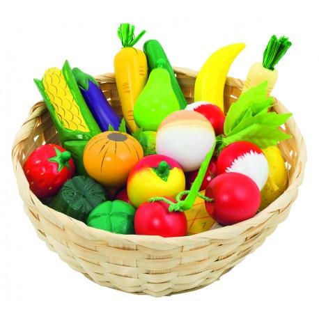 Corbeille de fruits et lègumes
