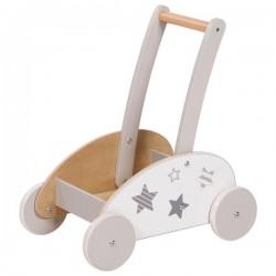 Chariot à pousser en bois 2 en 1 (chariot pour transporter ET aide à la marche)