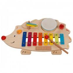Table musicale hérisson avec livret de partitions
