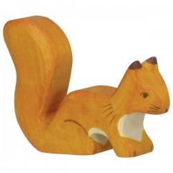 Holztiger - Ecureuil, debout, orange en Bois