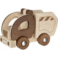 Camion poubelle en bois NATUREL
