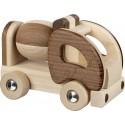 Camion toupie en bois naturel