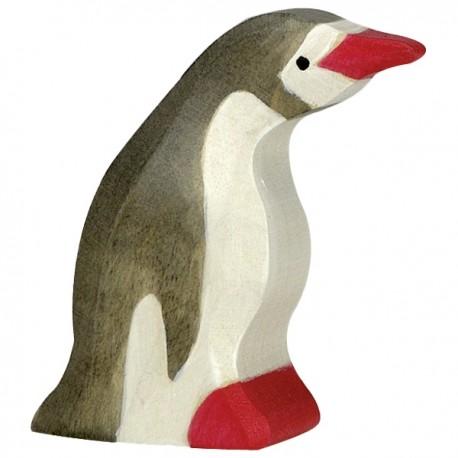 PRECOMMANDE Livraison 12 2021 Holztiger - Pingouin, petit, tête en avant en Bois