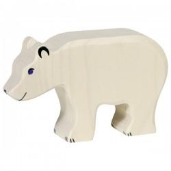 PRECOMMANDE Livraison 06 2021 Holztiger - Ours polaire, mangeant en Bois