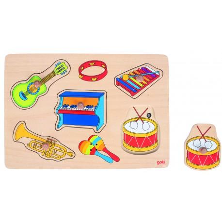 """Puzzle à encastrement """" Sonore"""" - Instruments de musique"""