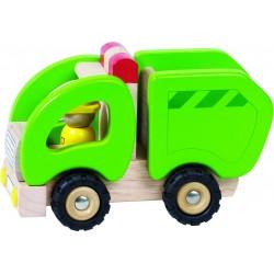 GOKI Camion bois - Camion poubelle - 2 ans