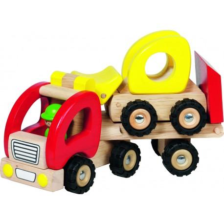 Camion en bois plateau avec camion chargeur