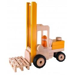 Chariot élévateur en bois à pousser