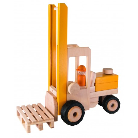 Chariot élèvateur en bois