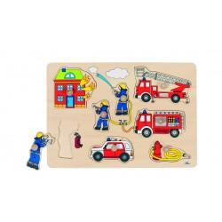 """Puzzle à encastrement"""" Pompiers"""" - 1 an"""