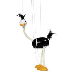 Marionnette autruche flexible 33cm