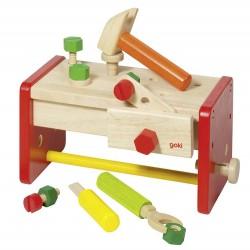 Etabli et boite à outils en bois - 2 en 1