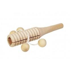 Baton de percussion à 4 boules en bois