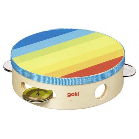 Tambourin à bois coloré