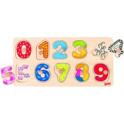 Puzzle chiffres surprise en bois