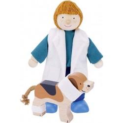 Poupée flexible - Vétérinaire avec Beagle