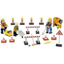 Poupées flexibles sur le chantier