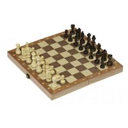 GOKI Jeu d'échecs Classique en Bois 30x30cm , boîte pliable