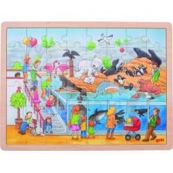 """Puzzle en bois - """"Une journée au Zoo"""""""