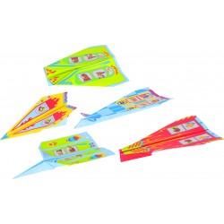 Avions de papier - 5 modèles assortis