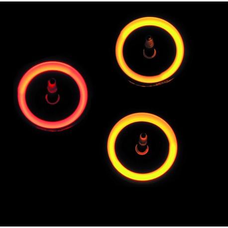 Toupies lumineuses avec LED
