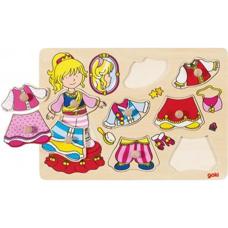 Puzzle en bois - Princesse à habiller