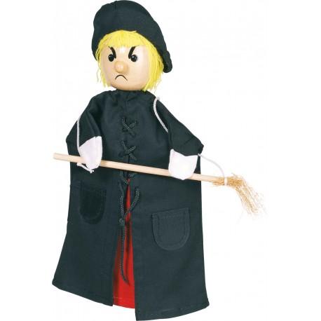 Marionnette ( Sorciére) - H: 27 cm