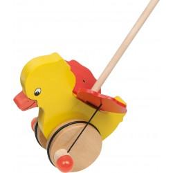 Animal à pousser - Canard qui bat des ailes - H: 18cm