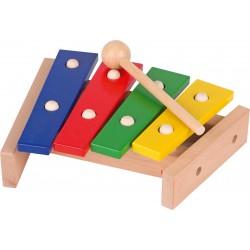 Xylophone en bois 4 lames - (22,5x19,5x5,5cm) - 1 an