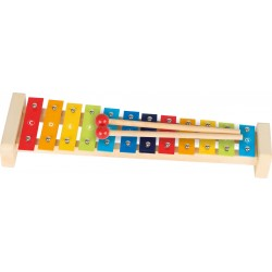 Xylophone avec 12 lames et son livret de chansons (L:37,5 cm) - 3 ans
