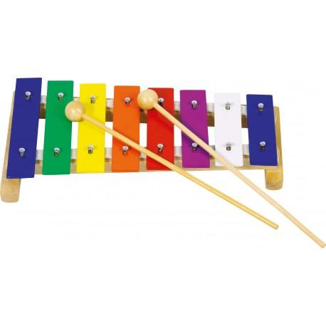 Métallophone en bois avec 8 lames - 26,5cm