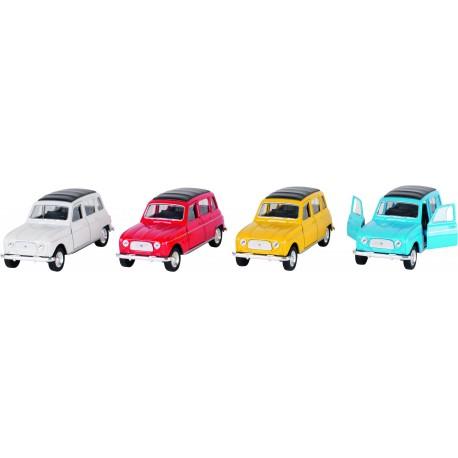 Voiture métal à rétro friction - Renault 4L ( 3 ans)