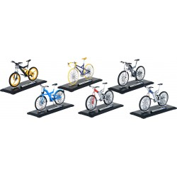 Bicyclette en métal - 6 assorties -1:10