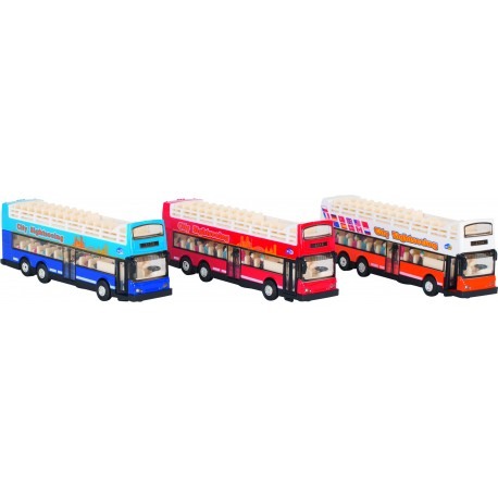 Bus à impériale -Sonore et lumineux - ( 3 ans)