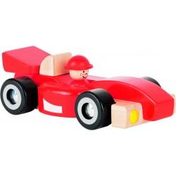 Voiture de course en bois Formule 1 - 2 ans - 20x10x6 cm