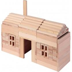 Jeu de construction en bois naturel - 200 pièces - 3 ans - GOKI Nature