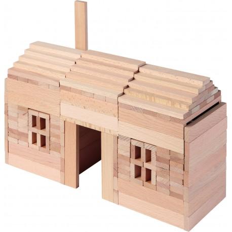 Jeu de construction en bois - 200 pièces ( 3 ans )