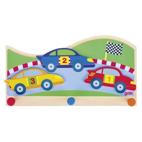 """Porte manteau """" Circuit de voiture"""""""