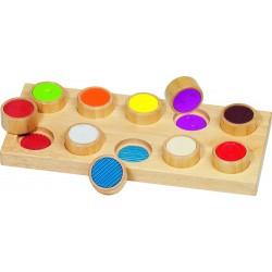 GOKI - Mémo tactile en bois - 3 ans