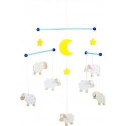 "Mobile en bois - ""Moutons"""