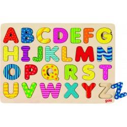 GOKI Puzzle en bois - Alphabet A-Z - 26 pièces